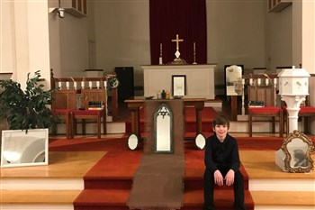 Bridgewater church youth member focused on mirrors and reflection for Ash Wednesday