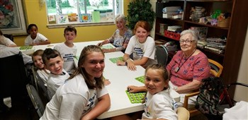 Youth at Central Congregational Church made a difference at a local retirement/nursing home